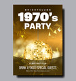 colorful 1970 party in nightclub banner vector image