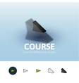 Course icon in different style vector image vector image