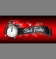 curved paper banner ribbon with black friday vector image vector image