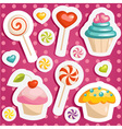 Cute candy stickers vector image vector image