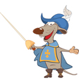 Cute rat King Musketeer vector image