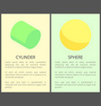 cylinder and sphere posters vector image vector image