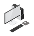 Desktop computer detailed isometric icon vector image vector image