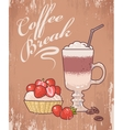 Dessert and coffee vector image