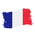 flag of france grunge abstract brush stroke vector image