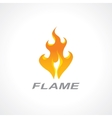 flaming fire vector image vector image