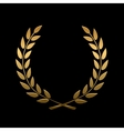 gold award laurel wreath vector image vector image