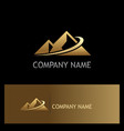 gold mountain abstract logo vector image vector image
