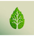 green leaf tree paper cut for nature concept vector image