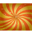 Grunge red and yellow spiral stripes vector image vector image