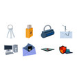 hacker and hacking icons in set collection for vector image vector image