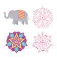 happy diwali festival floral mandala flowers vector image vector image