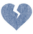 heart break fabric textured icon vector image vector image