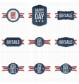 Independence Day Sale Labels with Ribbons vector image