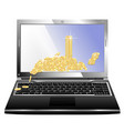 laptop with money vector image