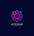 logo ornament flower gradient colorful style vector image