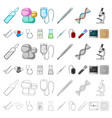 medicine and treatment cartoon icons in set vector image vector image