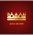 medieval king crown vector image