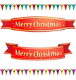 Merry christmas ribbons vector image vector image