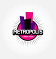 metropolis logo design symbol icon vector image