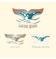 Modern Abstract Swimming Logo vector image vector image