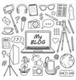 my blog set vector image vector image