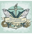 Nautical Label with sample text Sailing vector image