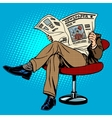Newspaper reading man vector image