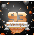 Ninety three years anniversary celebration vector image vector image