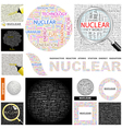 NUCLEAR vector image vector image