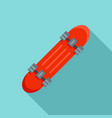 penny board icon flat style vector image vector image