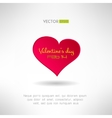 Red heart icon with valentines text and date on it vector image