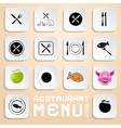 Restaurant Menu Icons - Design Elements vector image vector image