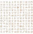 seamless pattern digital art ritual symbols and vector image