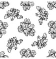 seamless pattern with black and white iris vector image vector image
