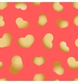 Seamless pattern with hearts beautiful vector image vector image