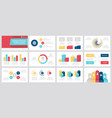 set grey yellow red dark blue and turquoise vector image