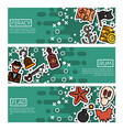set of horizontal banners about piracy vector image vector image