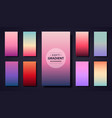 set soft gradient background design use vector image