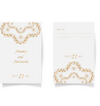 set wedding card flyer pages ornament concept vector image vector image