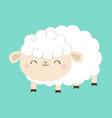 sheep lamb icon sleeping eyes cloud shape cute