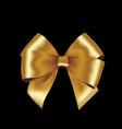 shiny golden satin ribbon on white background vector image vector image