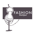 shopping female fashion boutique isolated sketch vector image vector image