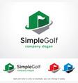 simple golf logo template design vector image