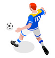 Soccer Striker 2016 Sports 3D Isometric vector image vector image