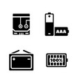 sources of power simple related icons vector image