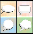speech bubble in pop art style vector image