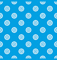 sprocket from bike pattern seamless blue vector image vector image