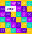 street sign line icons vector image vector image
