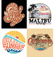 surf graphic set vector image